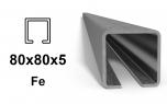 C-Profil 80x80x5 mm, Fe