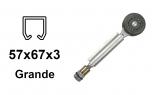 Vozík pre závesnú bránu 2 rolky s otočným pántom pre profil 57×67×3,0