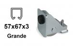 Spodný nájazd pre závesný profil 57×67×3,0