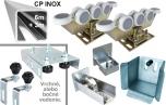 INOX/Zn Kombinovaná sada 76x76x3 pre výrobu samonosnej posuvnej brány, 9m CP
