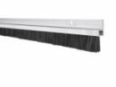 Hliníková tesniaca lišta s nylonovou kefou, vlas dĺžky 14 mm, bočná
