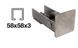 Spodný nájazd - INOX, 58x58