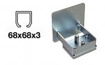 Krytka C-profilu samonosnej brány - pozinkovaná, 68x68