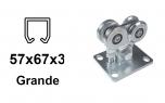 Vozík pre závesný profil 57×67×3,0, 4 rolky