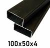 Joklový profil 100x50x4, čierny