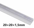 Hliníkový L profil 20x20x1,5mm