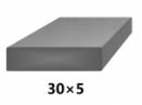 Plochá plná oceľová tyč 30x5 mm (pásovina), bez povrchovej úpravy