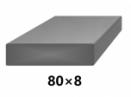 Plochá plná oceľová tyč 80x8 mm (pásovina), bez povrchovej úpravy