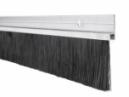 Hliníková tesniaca lišta s nylonovou kefou, vlas dĺžky 46 mm, bočná