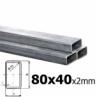 Sada joklových profilov pre výrobu posuvnej brány 80x40x2 mm