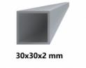 Hliníkový jokel štvorcový 30x30x2 mm