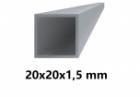 Hliníkový jokel štvorcový 20x20x1,5 mm