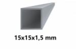 Hliníkový jokel štvorcový 15x15x1,5 mm