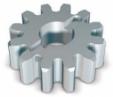 NICE RUA12 - ozubené koliesko pohonu 12 zubov, modul zubu 4