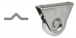 Koliesko koľajovej brány na skrutkovanie s konzolou tvar V