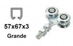 Vozík pre závesnú bránu 4 s krytými ložiskami rolky pre profil 57×67×3,0