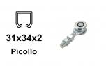 Vozík pre závesnú bránu 2 rolky s krytými ložiskami pre profil 34×31×2,0