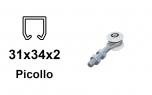 Vozík pre závesnú bránu 2 rolky pre profil 34×31×2,0 nylonový