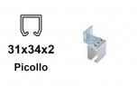 Bočný úchyt pre C-profil závesnej brány 34×31×2,0