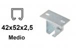 Horný úchyt pre C-profil závesnej brány 42×52×2,5