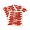 NICE WA10 - sada 24ks červených reflexných samolepiek
