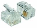 NICE OVA2 - 10ks konektorov RJ14 typu 6/4 pre plochý štvoržilový kábel