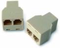 NICE OVA3 - 5ks rozdvojok pre konektory R14 typu 6/4 na kaskádovanie zariadení v sieti BUS T4
