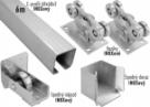 INOX Sada 68x68x3 pre výrobu samonosnej nerezovej posuvnej brány