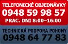 Objednávka po telefóne 0948599857 a technická podpora pohony 0948647783