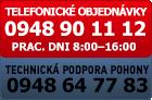 Objednávka po telefóne 0948901112 a technická podpora pohony 0948647783